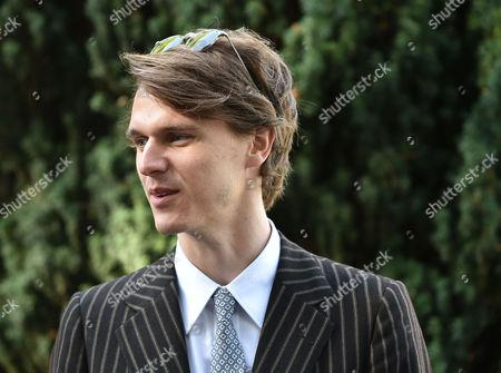 14 05 16 Wedding of Alexander Spencer-churchill and Scarlett Strutt at St Peter's Church Stutton Suffolk Isaac Ferry