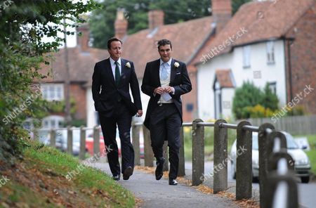 Wedding at St Augustine's Church East Hendred Berkshire David Cameron and David Peacock