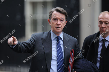 Weekly Cabinet Meeting at Number 10 Downing Street Westminster London First Secretary of State Secretary of State For Business Innovation and Skills and Lord President of the Council the Rt Hon Lord Peter Mandelson with the Rt Hon Pat Mcfadden Mp Minister For Business Innovation and Skills