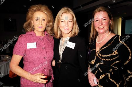 28 01 16 Wellbeing of Women Annual Lunch Debate at the Royal College of Physicians Regents Park London Lady Wolfson Mary Nightingale and Well Being of Women Chief Executive Fiona Leishman