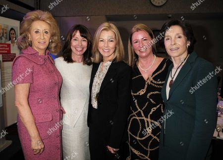 Stock Picture of 28 01 16 Wellbeing of Women Annual Lunch Debate at the Royal College of Physicians Regents Park London Lady Estelle Wolfson Kay Burley Mary Nightingale Well Being of Women Chief Executive Fiona Leishman and Dame Mary Archer