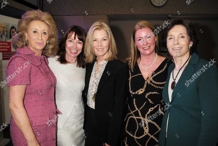 28 01 16 Wellbeing of Women Annual Lunch Debate at the Royal College of Physicians Regents Park London Lady Estelle Wolfson Kay Burley Mary Nightingale Well Being of Women Chief Executive Fiona Leishman and Dame Mary Archer