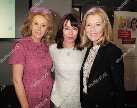 28 01 16 Wellbeing of Women Annual Lunch Debate at the Royal College of Physicians Regents Park London Lady Estelle Wolfson Kay Burley & Mary Nightingale