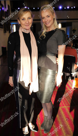 28 01 16 Wellbeing of Women Annual Lunch Debate at the Royal College of Physicians Regents Park London Pollyanna Woodward with Lesley Sharp
