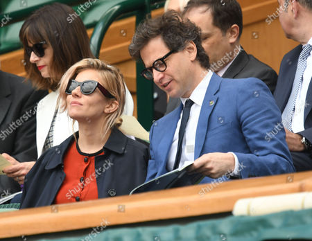 05 07 16 Wimbledon Day 8 at All England Lawn Tennis Club Center Court Sienna Miller with Bennett Miller