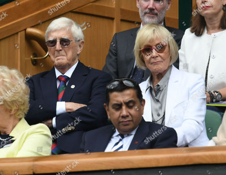 05 07 16 Wimbledon Day 8 at All England Lawn Tennis Club Center Court Sir Michael and Lady Mary Parkinson
