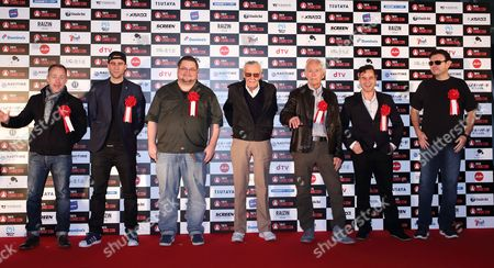 Billy Boyd, Matthew Lewis, C.B. Cebulski, Stan Lee, Lance Henriksen, Daniel Logan and John Alcantar