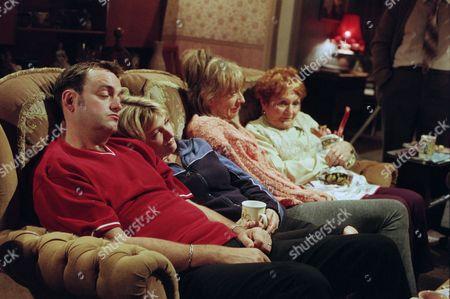 Craig Cash as Dave Best, Caroline Aherne as Denise Best (née Royle), Sue Johnston as Barbara Royle and Doreen Keogh as Mary Carroll