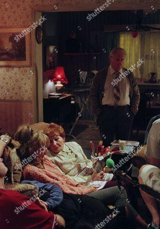 Craig Cash as Dave Best, Caroline Aherne as Denise Best (née Royle), Sue Johnston as Barbara Royle and Doreen Keogh as Mary Carroll, with Peter Martin as Joe Carroll