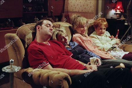 Craig Cash as Dave Best, Caroline Aherne as Denise Best (née Royle), Sue Johnston as Barbara Royle, Sue Johnston as Barbara Royle and Doreen Keogh as Mary Carroll