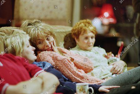 Caroline Aherne as Denise Best (née Royle), Sue Johnston as Barbara Royle and Doreen Keogh as Mary Carroll