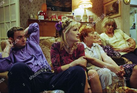Stock Picture of Craig Cash as Dave Best, Caroline Aherne as Denise Best (née Royle), Doreen Keogh as Mary Carroll, Liz Smith as Norma Speakman (Nana) and Sue Johnston as Barbara Royle
