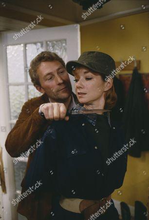 Madeleine Howard (as Sarah) and Dennis Blanch (during Sarah's abduction) (as Jim Latimer) (Episode 1614 - 3rd December 1991)
