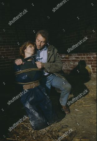 Stock Picture of Madeleine Howard (as Sarah) and Dennis Blanch (as Jim Latimer) during Sarah's abduction (Episode 1616 - 10th December 1991)