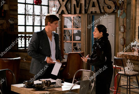 Having discovered the burglary, Robert Preston, as played by Tristan Gemmill, suspends Steph Britton, as played by Tisha Merry, pointing out there's no sign of a break-in and it was her job to lock up. An upset Steph tells Andy Carver, as played by Oliver Mellor, she's thinking of handing in her notice as she can't be trusted. Andy's consumed with guilt. (Episode 9062 - Wed 21st Dec 2016)