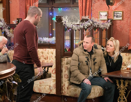 In the Rovers, Kirk Sutherland, as played by Andy Whyment, tears a strip off Adam Barlow, as played by Sam Robertson, blaming him for plying Maria with drink. When Adam makes a disparaging remark about Maria, Aidan Connor, as played by Shayne Ward, loses it and punches Adam in the face. (Episode 9062 - Wed 21st Dec 2016)