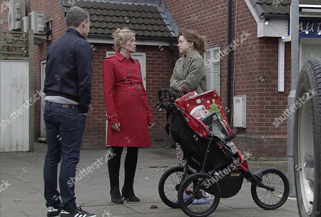 Having discovered the burglary, Robert Preston, as played by Tristan Gemmill, suspend, as played by Steph Britton, as played by Tisha Merry, pointing out there's no sign of a break-in and it was her job to lock up. Steph tells Andy Carver, as played by Oliver Mellor, she's thinking of handing in her notice as she can't be trusted. Andy's consumed with guilt. (Episode 9062 - Wed 21st Dec 2016)