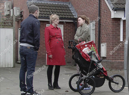 Having discovered the burglary, Robert Preston, as played by Tristan Gemmill, Steph Britton, as played by Tisha Merry, pointing out there's no sign of a break-in and it was her job to lock up. Steph tells Andy Carver, as played by Oliver Mellor, she's thinking of handing in her notice as she can't be trusted. Andy's consumed with guilt. (Episode 9062 - Wed 21st Dec 2016)