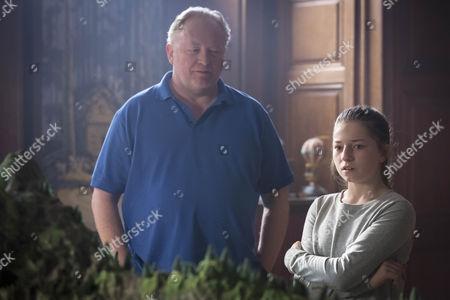 Bjarne Henriksen as Jerzy and Hazel Doupe as Lucy