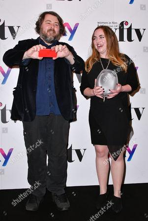 Stock Photo of Sara Bennett, Winner - The Technicolor Creative Technology Award, and Ben Wheatley