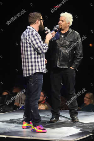 Stock Image of Rutledge Wood and Guy Fieri