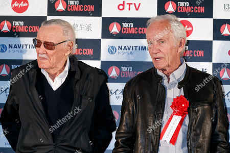 Stock Picture of Stan Lee (L) and actor Lance Henriksen