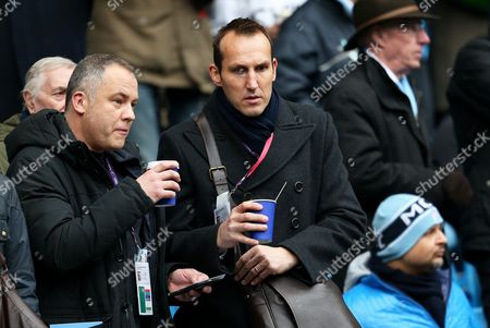 Former Chelsea goalkeeper Mark Schwarzer watches from the stands