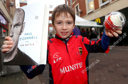 Paul O'Connell Book Signing, Eason, O'Connell Street, Limerick 3/12/2016. Oran Gleeson from Ballyneety, Limerick pictured at Eason O?Connell Street in Limerick for the signing of Paul O'Connell's highly acclaimed autobiography, ?The Battle?. . There has never been a rugby player quite like Paul O'Connell. He is synonymous with passion, heart and determination; but he is also the thinking man's rugby player, a legendary student of the game. As the heartbeat of Munster, British and Irish Lions captain in 2009, and captain of the first Ireland team to defend a Six Nations championship, O'Connell has emerged as perhaps the most beloved of the golden generation of Irish rugby players. The book can be purchased on www.easons.com