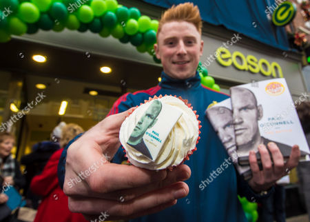 Paul O'Connell Book Signing, Eason, O'Connell Street, Limerick 3/12/2016. James Malone from Croom, Limerick pictured at Eason O?Connell Street in Limerick for the signing of Paul O'Connell's highly acclaimed autobiography, ?The Battle?. . There has never been a rugby player quite like Paul O'Connell. He is synonymous with passion, heart and determination; but he is also the thinking man's rugby player, a legendary student of the game. As the heartbeat of Munster, British and Irish Lions captain in 2009, and captain of the first Ireland team to defend a Six Nations championship, O'Connell has emerged as perhaps the most beloved of the golden generation of Irish rugby players. The book can be purchased on www.easons.com