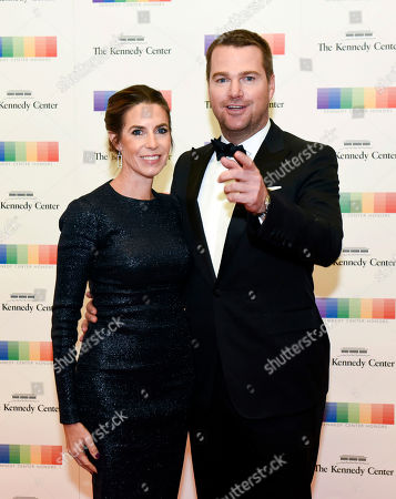 Stock Picture of Chris O'Donnell, Caroline Fentress Chris O'Donnell and wife Caroline Fentress arrive at the State Department for the Kennedy Center Honors gala dinner, in Washington