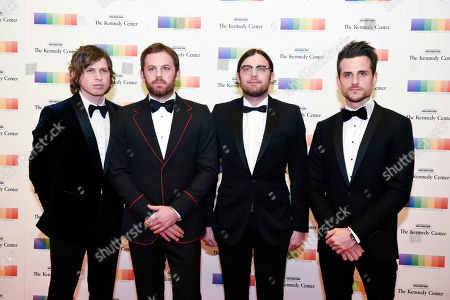 Matthew Followill, Caleb Followill, Nathan Followill, Jared Followill Members of the band Kings of Leon, from left, Matthew Followill, Caleb Followill, Nathan Followill and Jared Followill arrive at the State Department for the Kennedy Center Honors gala dinner, in Washington