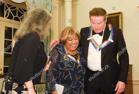 Mavis Staples, Don Henley, Martha Argerich Kennedy Center Honoree Mavis Staples, center, meets with fellow honorees Don Henley, right, and Martha Argerich following the State Department for the Kennedy Center Honors gala dinner on in Washington