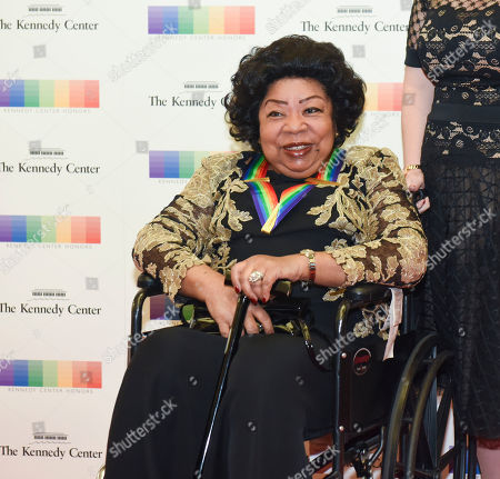 Stock Image of Kennedy Center honoree Martina Arroyo arrives at the State Department for the Kennedy Center Honors gala dinner on in Washington