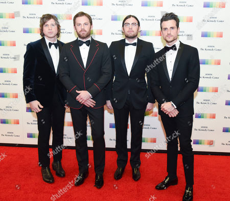 Matthew Followill, Caleb Followill, Nathan Followill, Jared Followill Members of the band Kings of Leon, from left, Matthew Folowill, Caleb Followill, Nathan Followill and Jared Followill arrive at the State Department for the Kennedy Center Honors gala dinner on in Washington