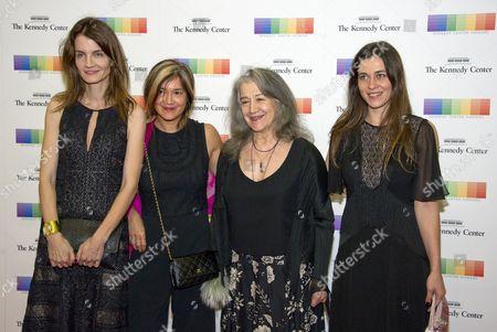 Argentine pianist Martha Argerich, Anne Catherine Dutoit, Lyda Chen and Stephanie Argerich