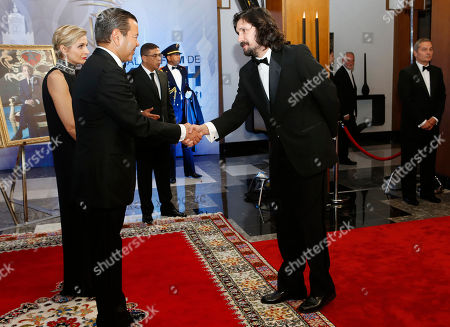 Moulay Rachid, Lisandro Alonso Morocco's Prince Moulay Rachid, left, welcomes Argentine director Lisandro Alonso before the royal dinner during the 16th Marrakech International Film Festival in Marrakech, Morocco, . The festival runs from Dec. 2-10