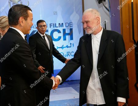 Moulay Rachid, Bela Tarr Morocco's Prince Moulay Rachid, left, welcomes jury president Hungarian director Bela Tarr before the royal dinner during the 16th Marrakech International Film Festival in Marrakech, Morocco, . The festival runs from Dec. 2-10