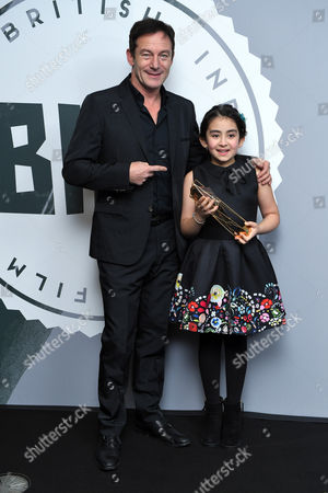 Stock Picture of Avin Manshadi - Supporting Actress, 'Under The Shadow' with Jason Isaacs