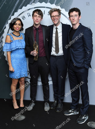 Stock Image of James Spinney and Peter Middleton - Best British Documentary, 'Notes on Blindness' with Georgina Campbell and Callum Turner