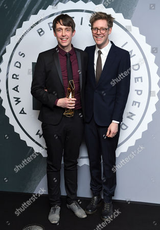Stock Photo of James Spinney and Peter Middleton - Best British Documentary, 'Notes on Blindness'