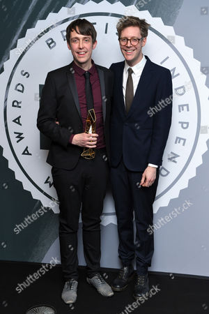 Stock Picture of James Spinney and Peter Middleton - Best British Documentary, 'Notes on Blindness'