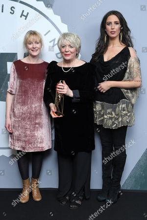 Stock Image of Alison Steadman - Richard Harris Award with Claire Skinner and Ella Harris