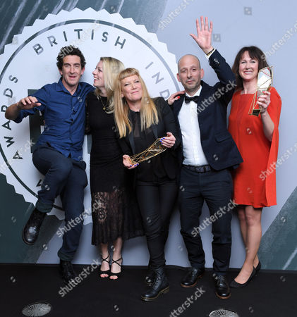 Robbie Ryan (left) and Andrea Arnold (centre) - Best British Independent Film, 'American Honey'