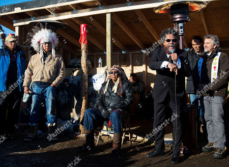 Cornel West, Chief Arvol Looking Horse Cornel West, right, speaks next to Chief Arvol Looking Horse, a spiritual leader of the Great Sioux Nation, during an interfaith ceremony at the Oceti Sakowin camp where people have gathered to protest the Dakota Access oil pipeline in Cannon Ball, N.D