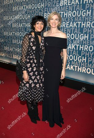 Breakthrough Prize, Emmanuelle Charpentier, Jennifer Doudna, crispr Emmanuelle Charpentier and Jennifer Doudna arrive at the fifth annual Breakthrough Prize Ceremony on at the NASA Ames Research Center in Mountain View, Calif