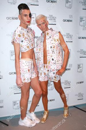 Stock Photo of X Factor's Bratavio - Bradley Hunt and Ottavio Columbro