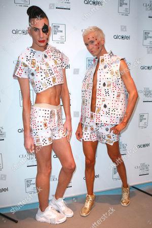 Stock Picture of X Factor's Bratavio - Bradley Hunt and Ottavio Columbro