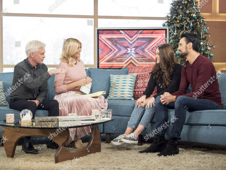 Phillip Schofield and Holly Willoughby with Emily Middlemass and Rylan Clark
