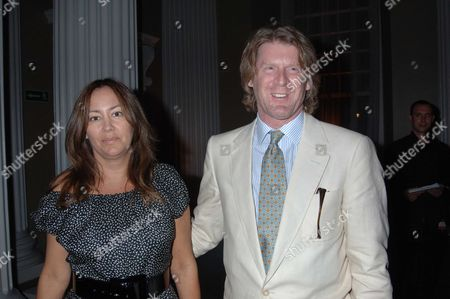 The Uk Charity Premiere of 'Pride and Prejudice' Party at the Banqueting House Whitehall London Mark Getty with His Wife