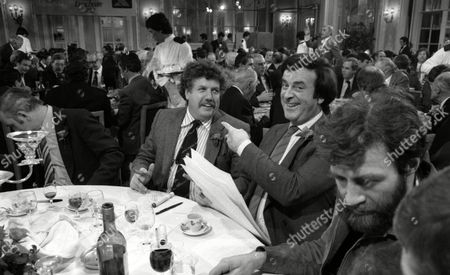 1982 'Men of the Year' Awards Luncheon Colin Welland Terry Wogan and Ranulph Fiennes